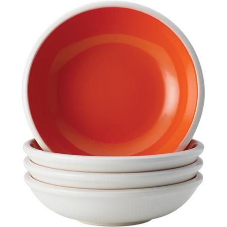 Rachael Ray Dinnerware Rise 4 Piece Stoneware Fruit Bowl Set