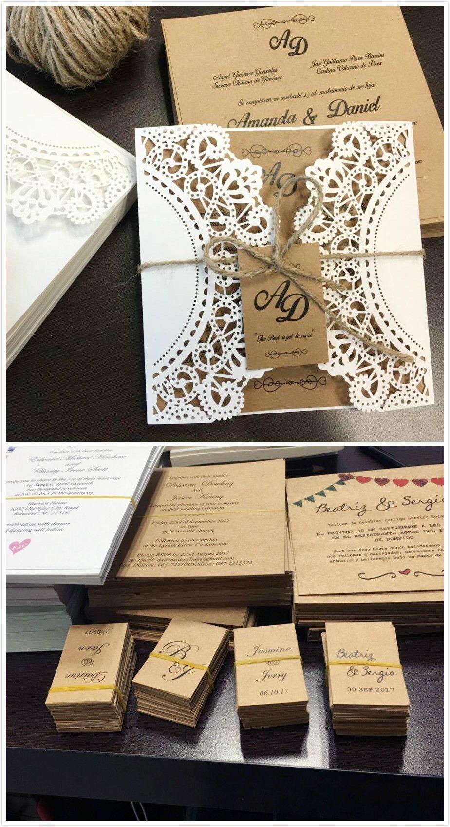 Rustic Wedding Invitations With Monogram Tag Wedding Invitation Cards Print Custo Vintage Wedding Invitation Cards Wedding Invitation Cards Wedding Invitations