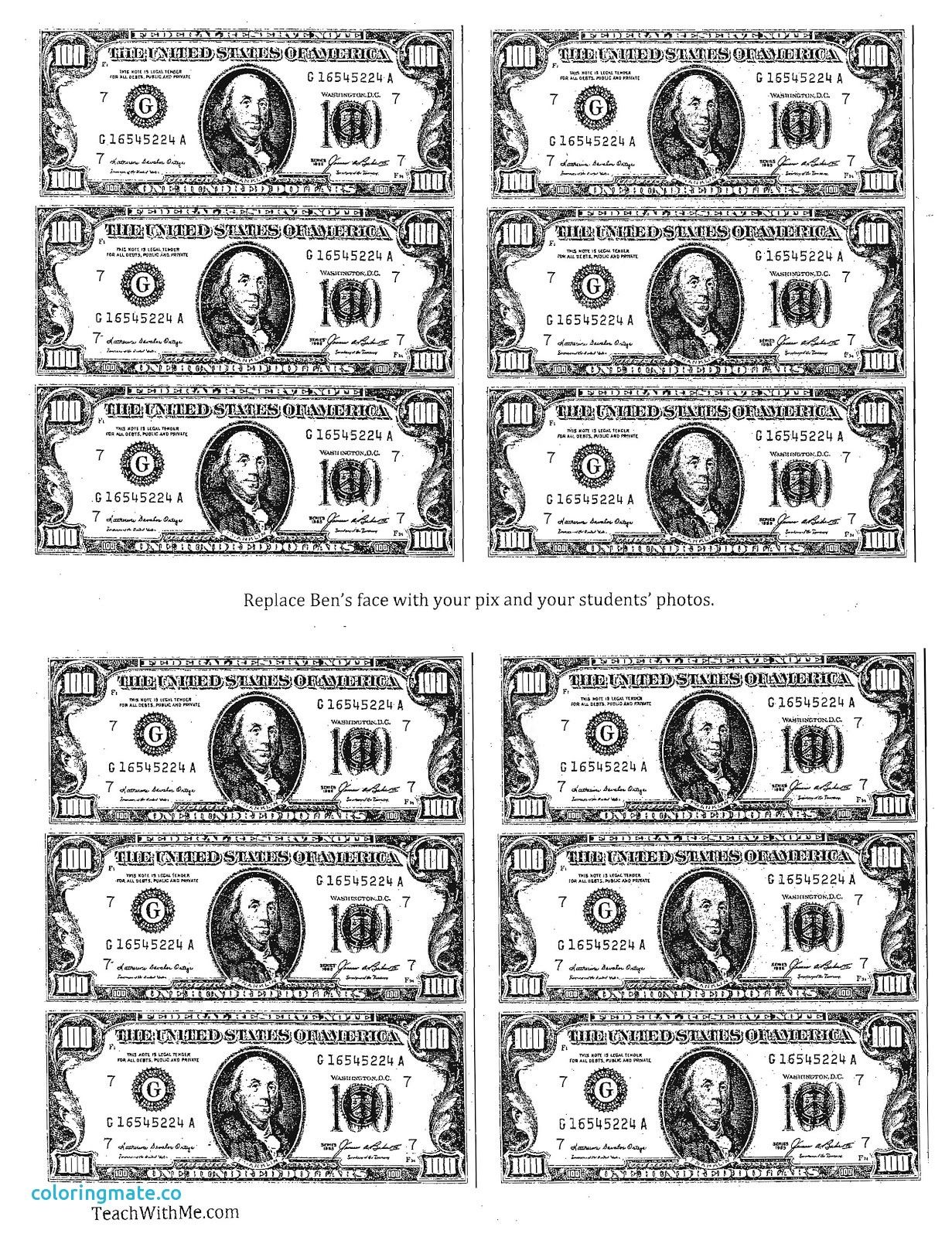 Selected Money Coloring Sheets Pages Unknown