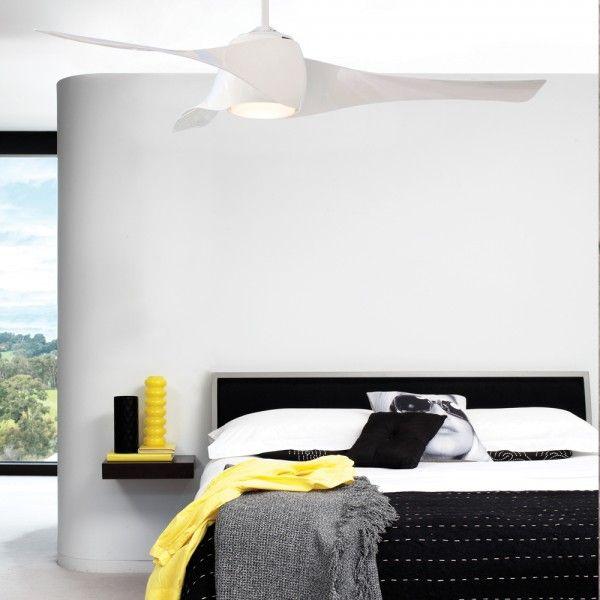Artemis 147cm fan with light in whitefansbeacon lighting