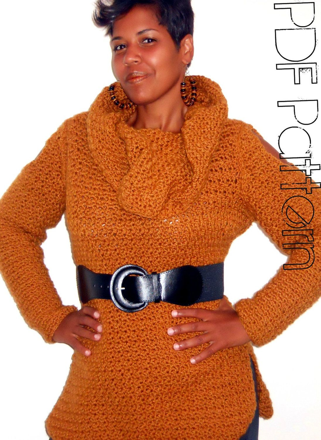Crochet Cowl Pattern | Crochet Cowl Neck Sweater Pattern | crochet ...