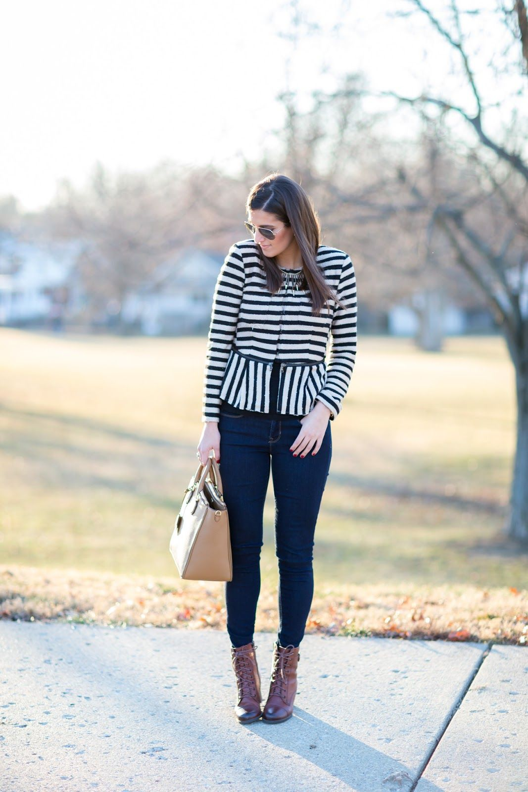 A Southern Drawl: Stripes & Gold Accents