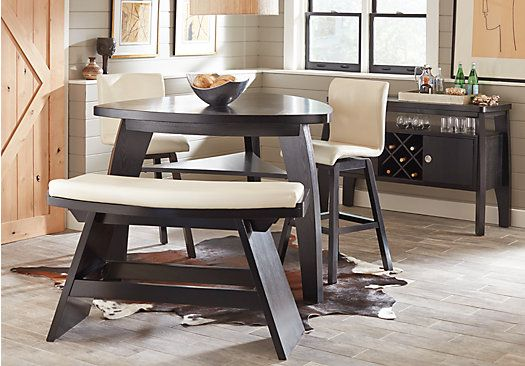 Noah Chocolate 4 Pc Bar Height Dining Room With Vanilla Barstools Dining Room Sets Affordable Dining Room Sets Rooms To Go Furniture