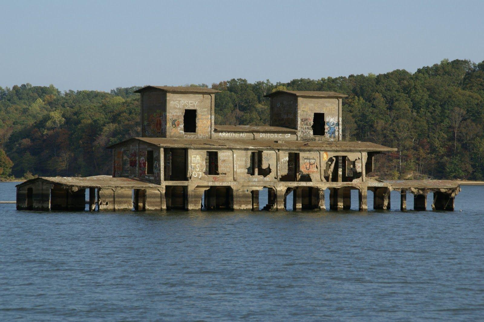 Abandoned Danville Grain Elevator Kentucky Lake