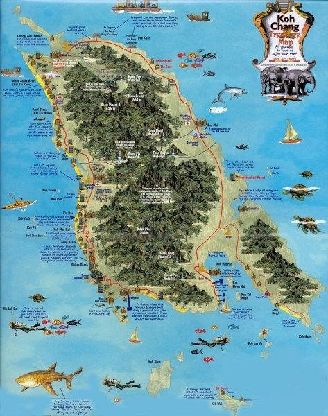 Koh Chang Thailand Map.Koh Chang Map Thailand Pinterest Thailand Thailand Travel And