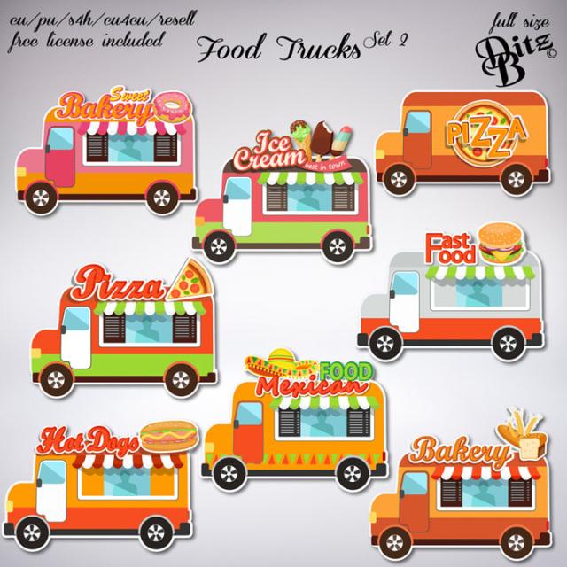 Food Trucks Set 2 Food Truck Felting Projects Paper Dolls