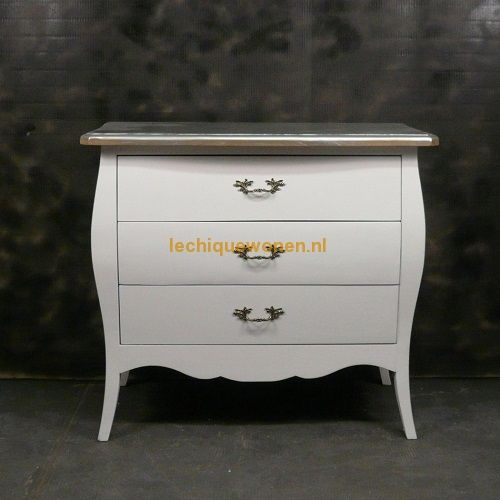 Sidetable Wit Barok.Nieuw Barok Commode Wit Brocante Zilver Brons Le Chique