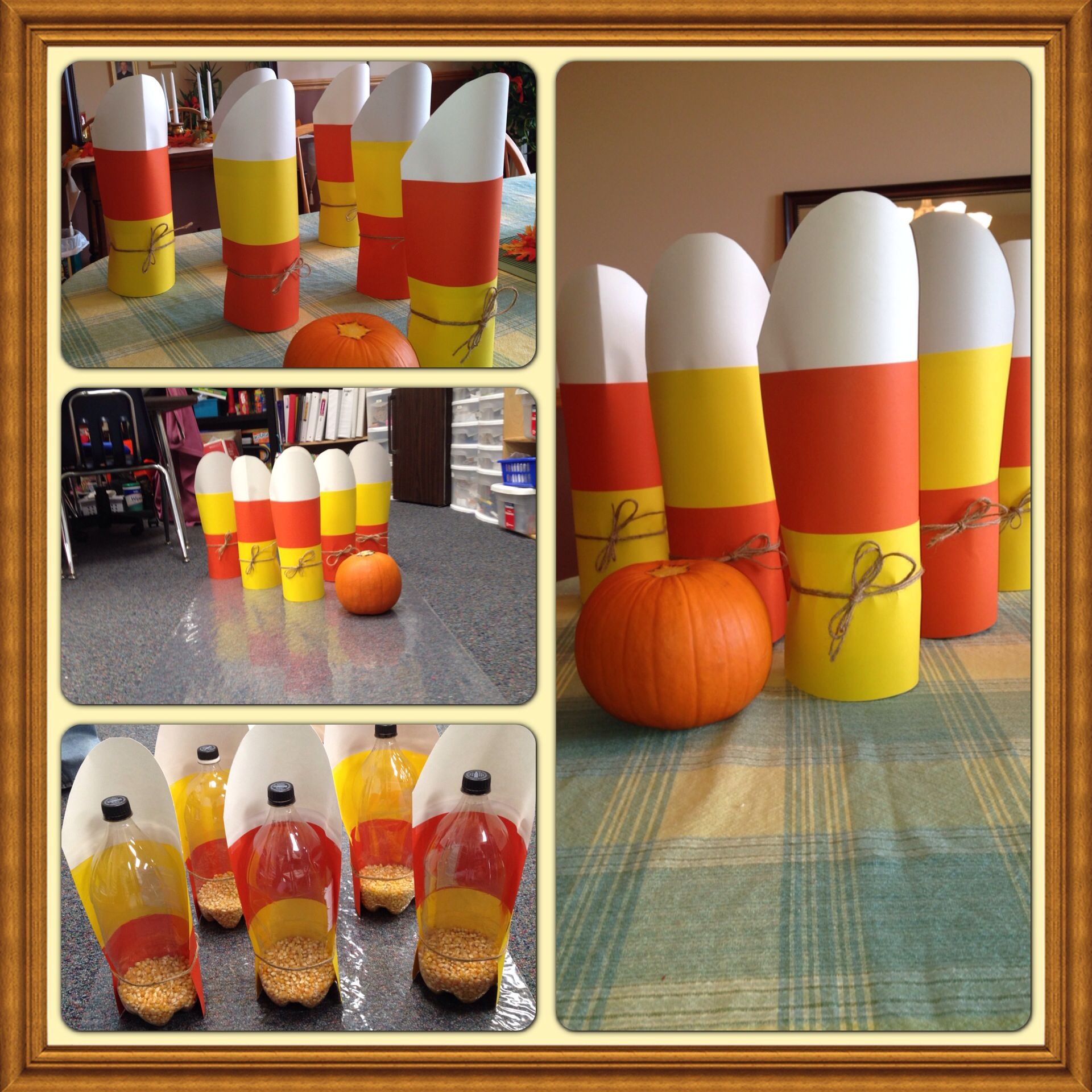 fun kids halloween game pumpkin bowling made out of 2 liter bottles popcorn and - Halloween Games For Kid