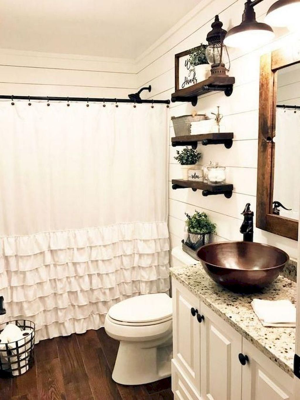 81 Top Rustic Farmhouse Bathroom Ideas