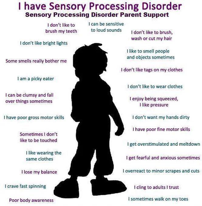 symptoms of sensory processing disorder children SPD ...