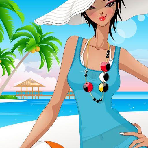 Summer beach fashion dress up games
