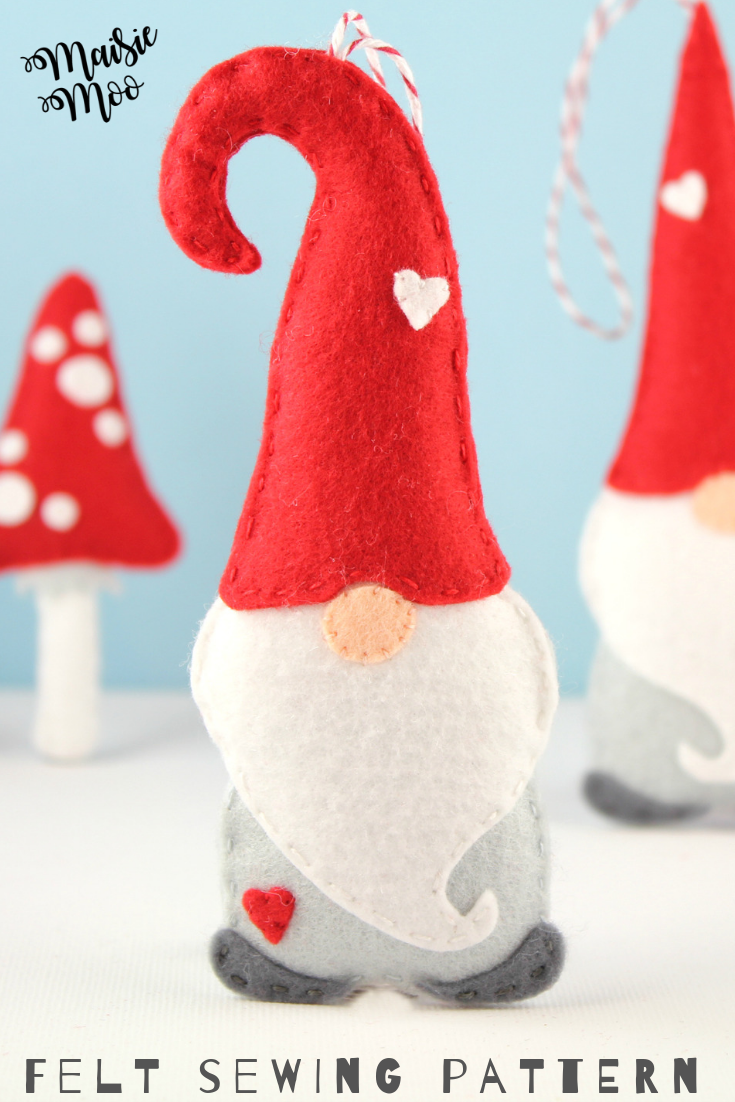 Christmas Gnome Pattern Nordic Gnome Ornament Pattern Felt Christmas Craft Christmasgn Felt Ornaments Patterns Felt Christmas Ornaments Felt Crafts Christmas