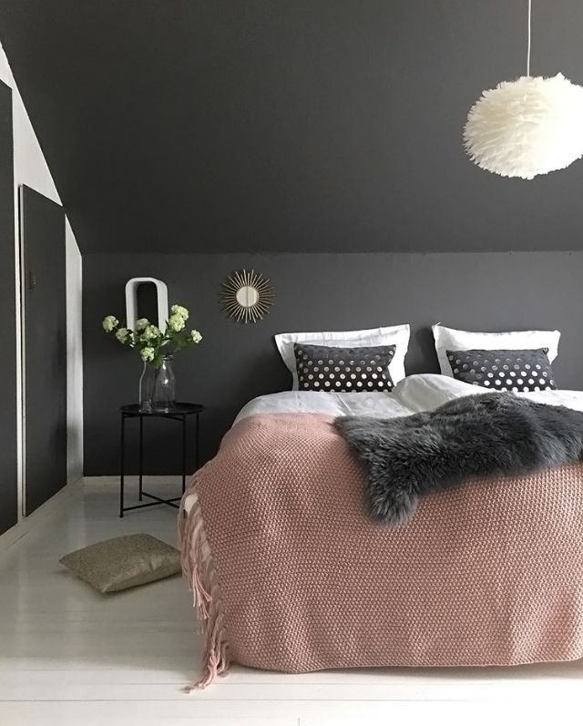 A Gorgeous Bedroom By Jorunn Ls Vita Eos Light Shade Available At Www Istome Co Uk Gray Bedroom Walls Gorgeous Bedrooms Dark Gray Bedroom