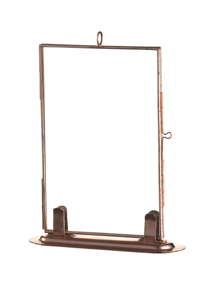 Delicate Standing Glass Frame - Copper - Frames - Decorative Home ...