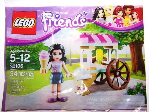 LEGO 30106 Friends Emma Ice Cream polybag MISB Sealed Buy 6 = Free Shipping!