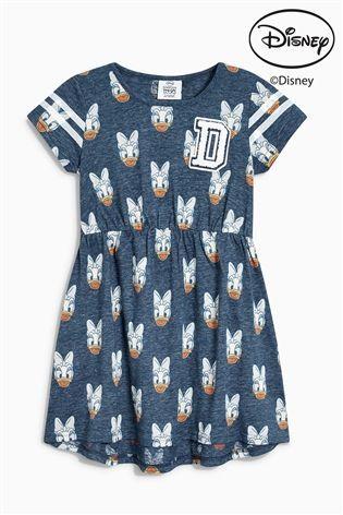 M/&S Girls Navy Blue Cotton Dino Print Dress 9-12 Months  **Brand New**