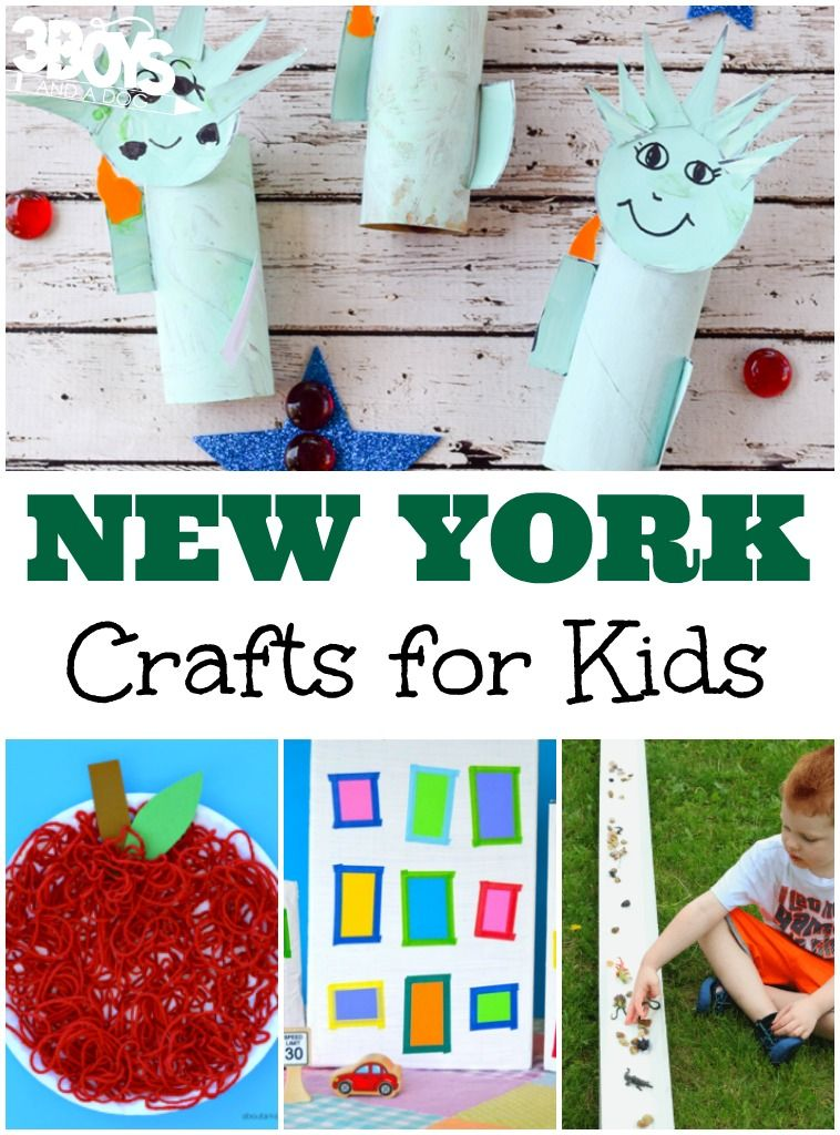 New York Crafts For Kids 3 Boys And A Dog State Crafts Crafts For Kids Arts And Crafts For Kids