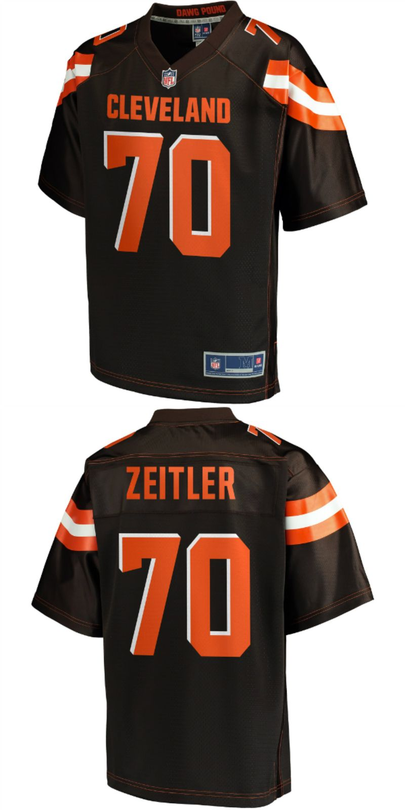 huge selection of bf5bc 52ac0 UP TO 70% OFF. Kevin Zeitler Cleveland Browns NFL Pro Line ...