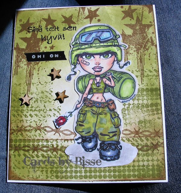 Bissen buduaari: KennyK stamps