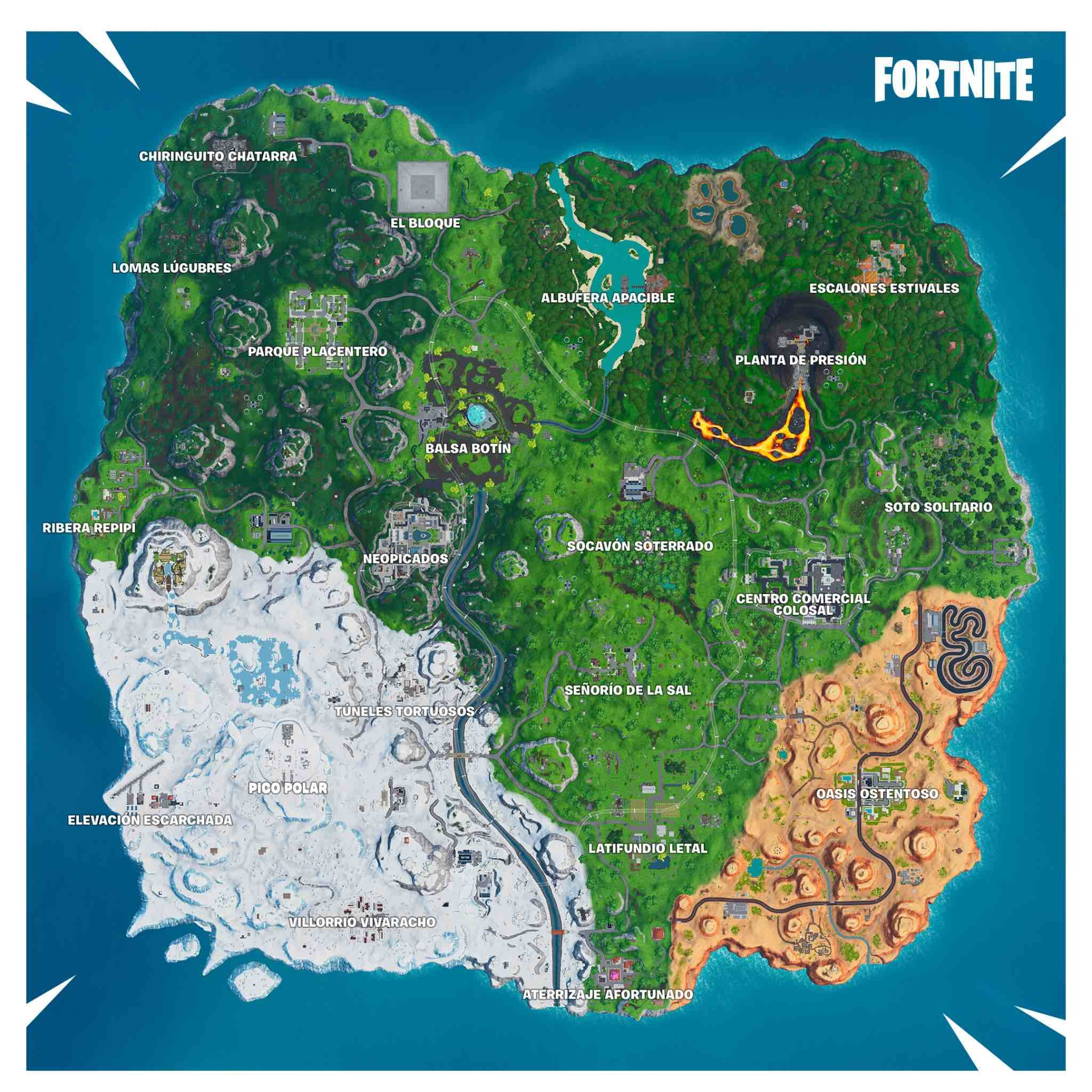 Cambios En El Mapa De Fortnite Temporada 9 Fortnite Temporadas Mapas