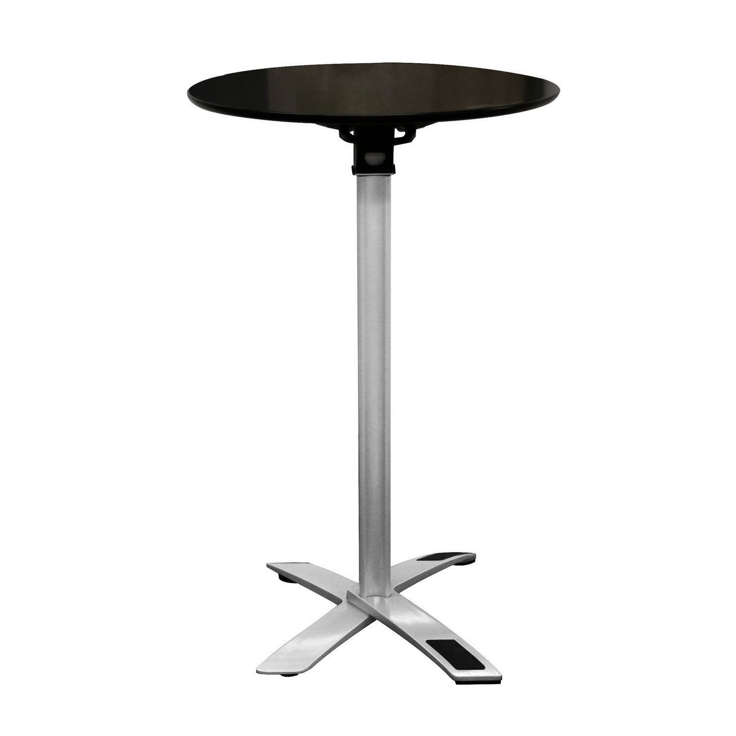 Yang Black / Silver Folding Event Table (Tall Height)
