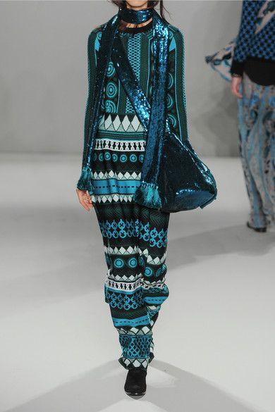 Temperley London | Gayla intarsia stretch-knit maxi dress | NET-A-PORTER.COM