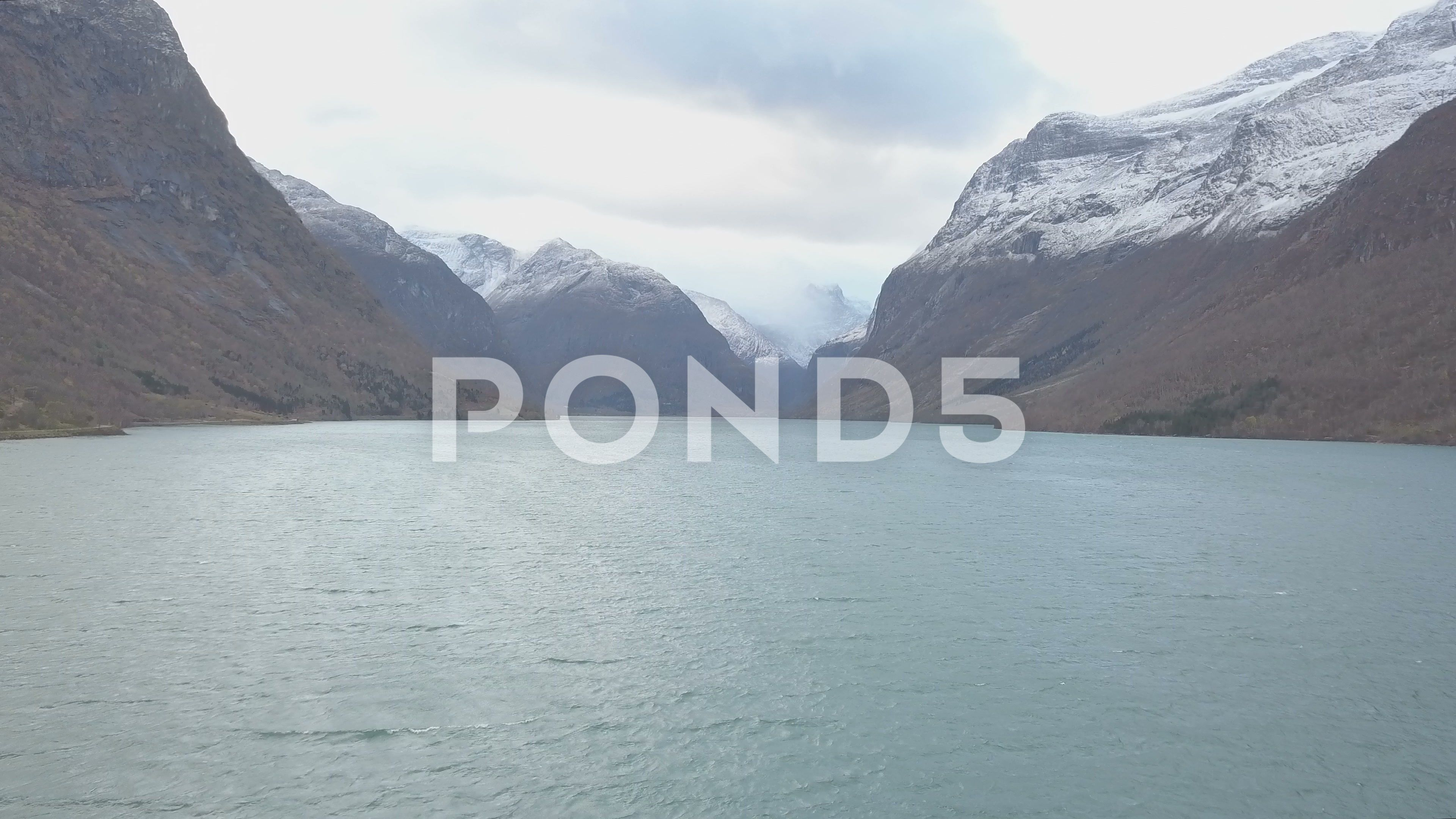 Aerial landscape of Lysefjord Fairy tale of Norway fjords nature Stock Footage FairytaleLysefjordAerial