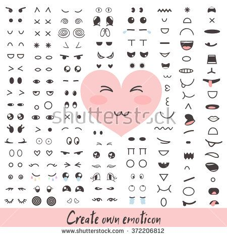 Emoticon Creator Big Collection Cartoon Face Create Your Own