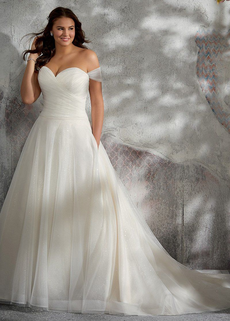 Photo of Wedding Dresses Simple, Delicate Tulle & Sequin Tulle Off-th…