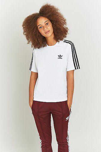 adidas 3 streifen shirt weiß