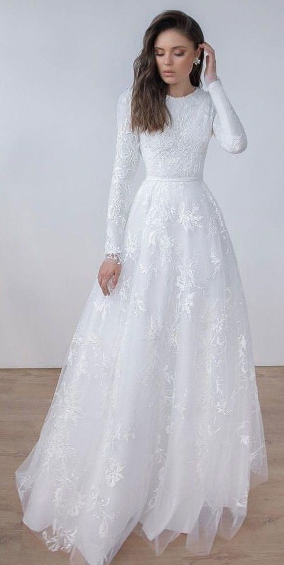 Long Prom Dress With Lace White Prom Dress Cr 4407 In 2020 Long Wedding Dresses Wedding Dress Long Sleeve White Lace Wedding Dress