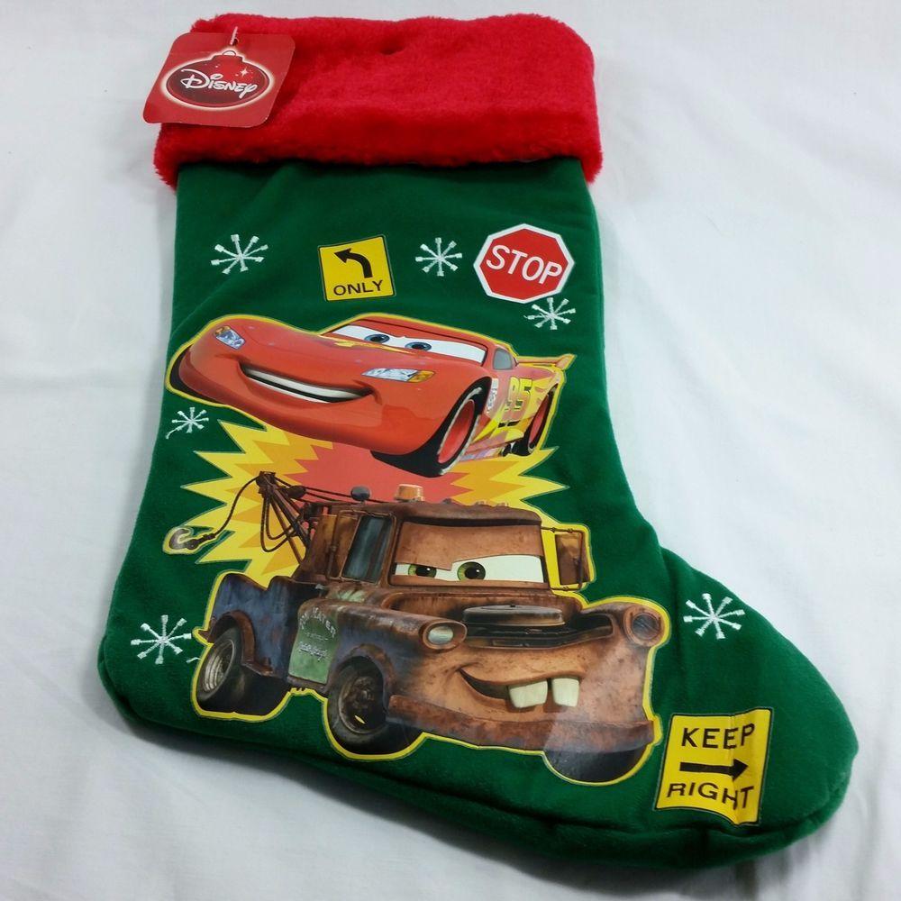 Christmas Stocking Cars Lightening Mcqueen Disney Pixar