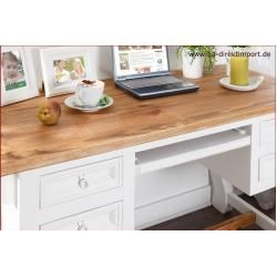 Photo of Desk Mexico white / honey, shabby chic, solid pine 1a direct import