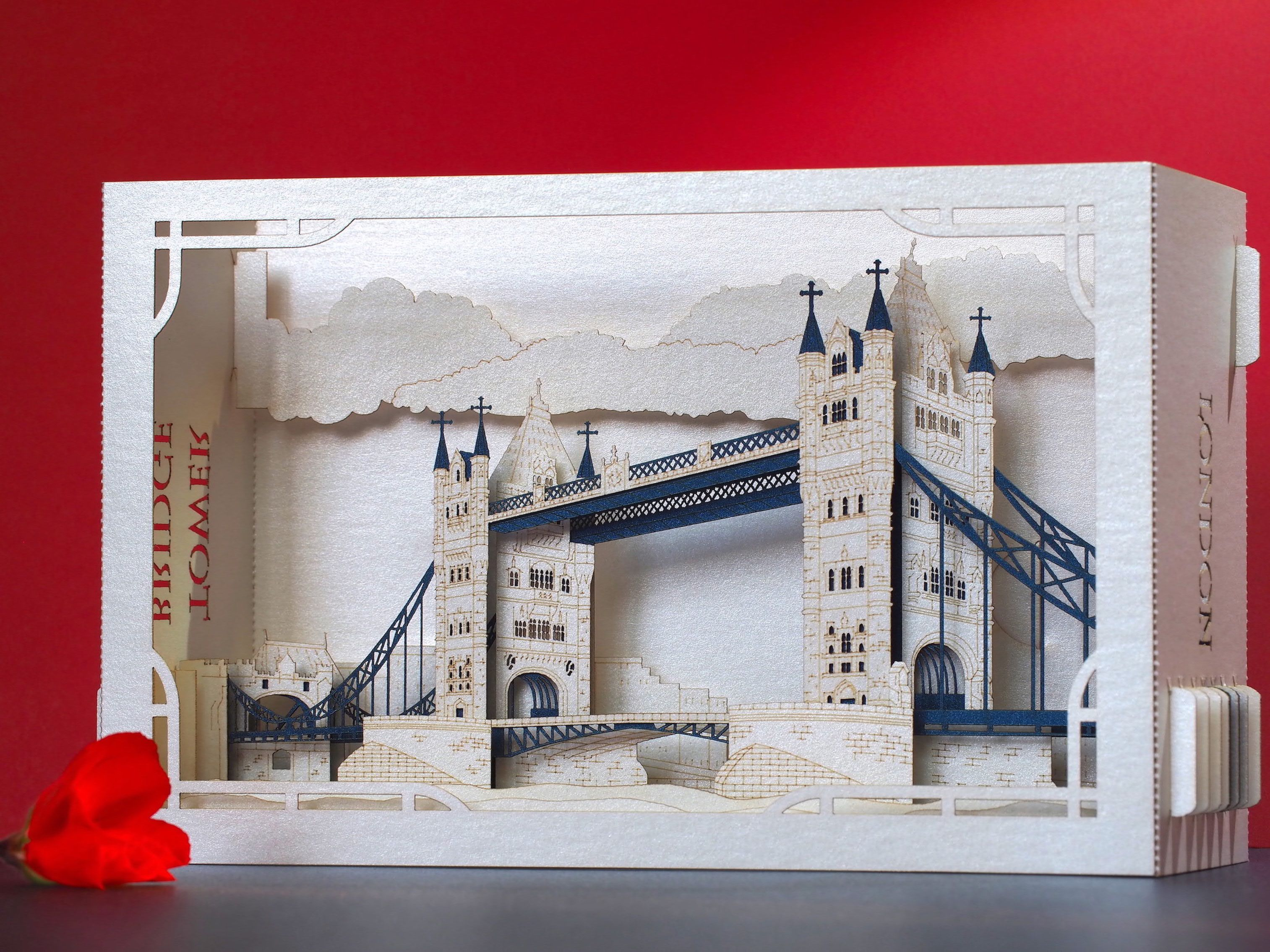 London Tower Bridge England Landmarks Paper Pop Up Card Etsy Paper Pop England Gift Tower Bridge London