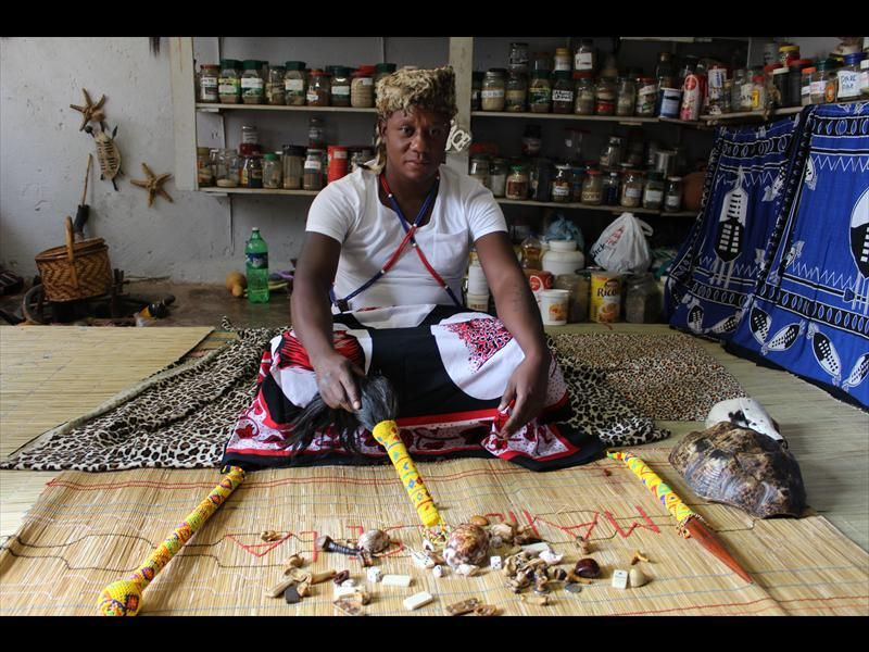 Traditional healer Solly Mathebula (38) of Mamelodi East