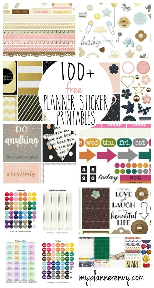 Hundred of free printable planner stickers by my planner for Happy planner accessories