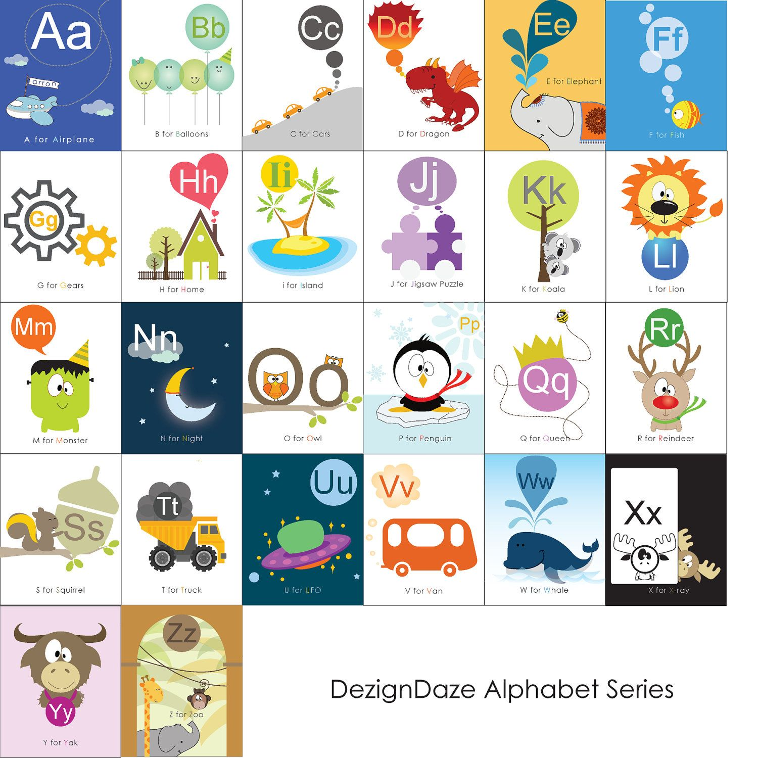 Printable Alphabet Art