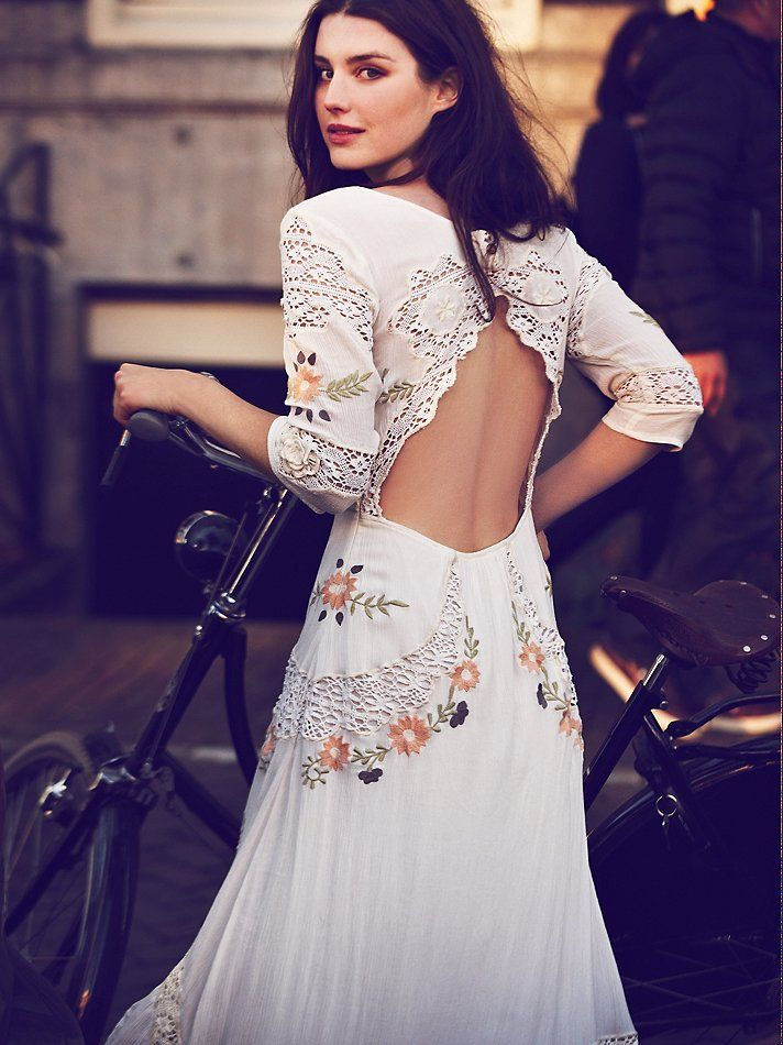Free People Mexican Wedding Dress At Clothing Boutique