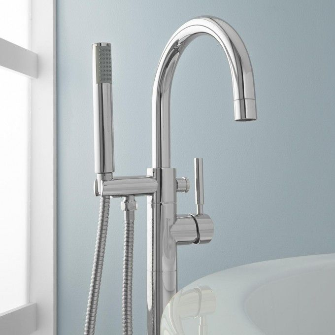 Simoni Freestanding Tub Faucet And Hand Shower Master Bath Tub