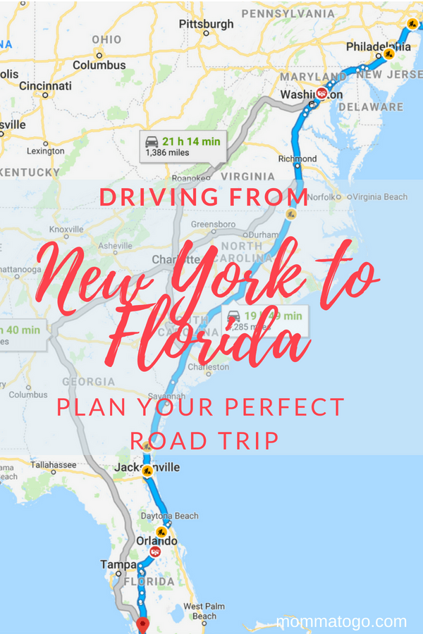 Best Tips for your New York to Florida Drive - Momma To Go Travel