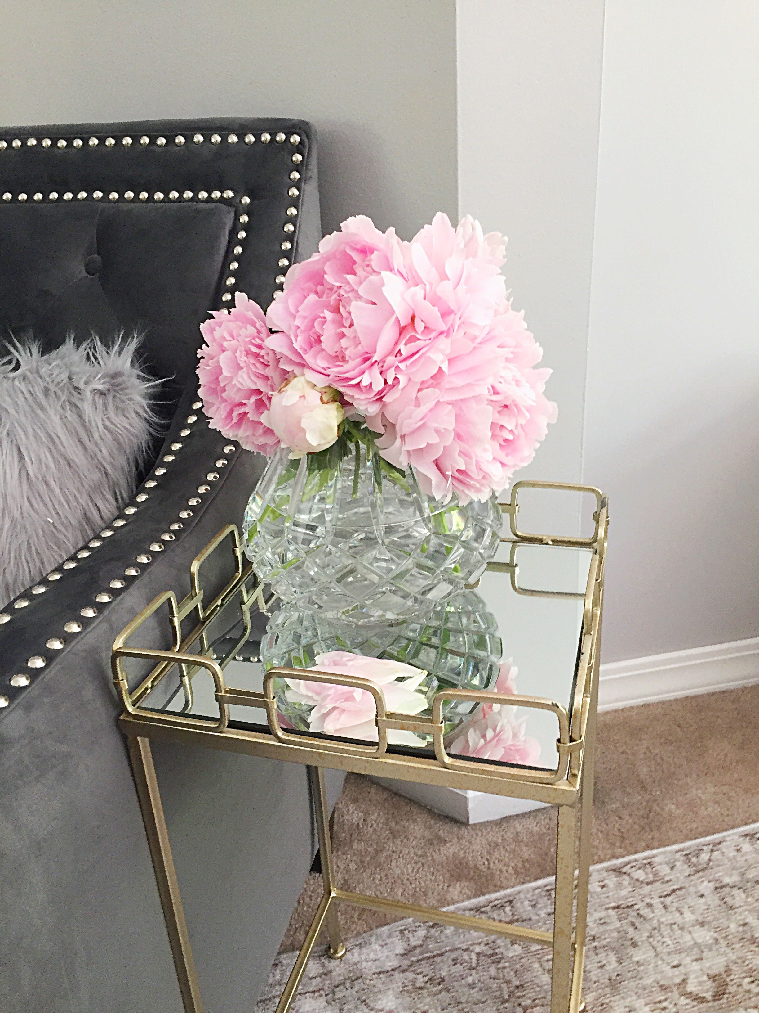 Side table from Hobby Lobby and chair is from Lamps Plus