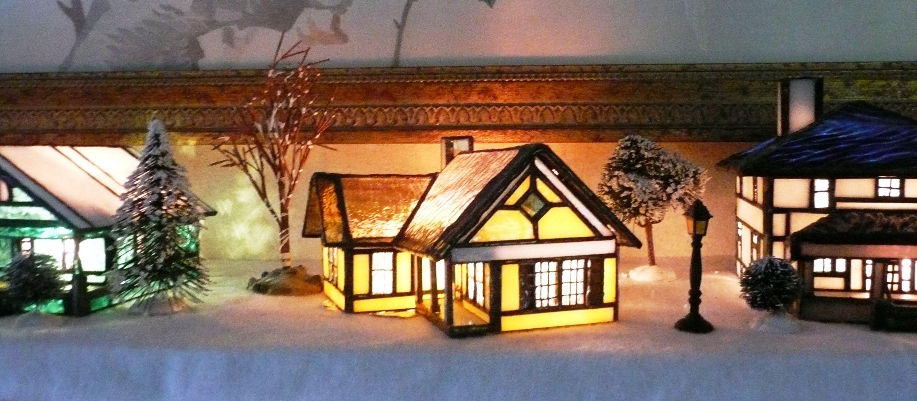 Stain Glass Christmas Village | Weihnachten | Pinterest | Glas und ...