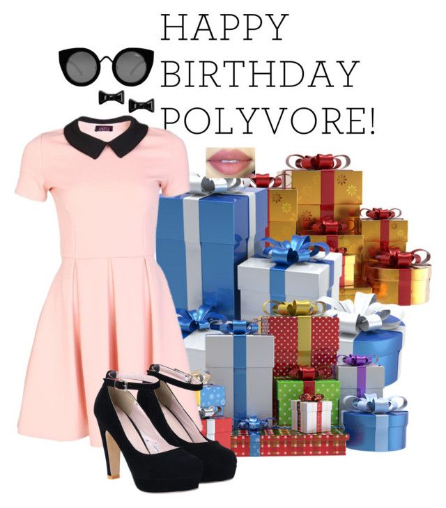 """""""Happy B-Day polyvore!!!"""" by mickey733 ❤ liked on Polyvore featuring Quay, Marc by Marc Jacobs, women's clothing, women, female, woman, misses, juniors, birthday and contestentry"""