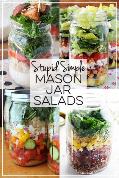 Stupid Simple Mason Jar Salads