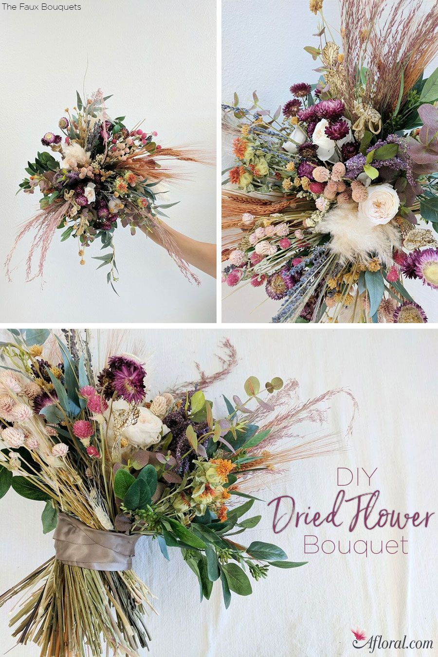 Dried Flower Bouquet | Pinterest | Flower bouquets, Flower and ...