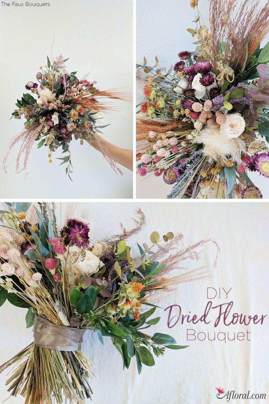 Dried Flower Bouquet | Flower bouquets, Flower and Wedding planning ...