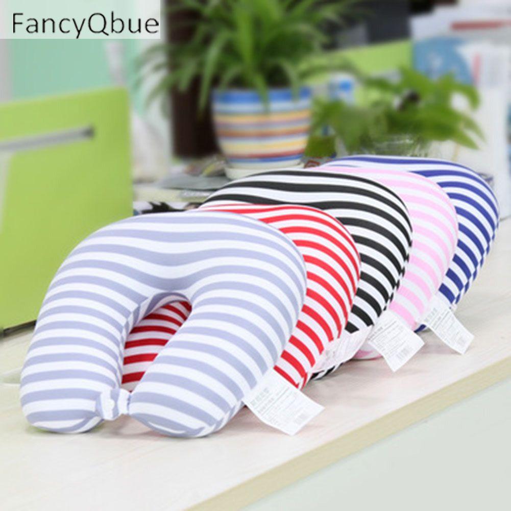 Fancyqbue microbeads u shape neck pillow stripe filling foam