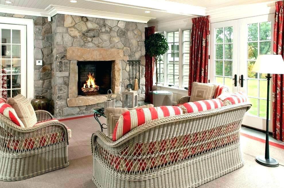 Comfortable Sunroom Furniture White Shiplap Wicker Sunroom Furniture