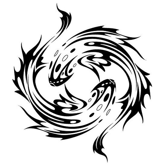 pisces tribal zodiac sign | zodiac signs | pisces tattoos, tattoos