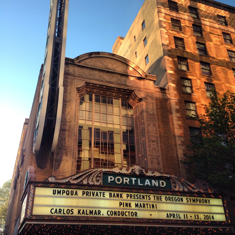 Arlene Schnitzer Concert Hall. Downtown PDX.